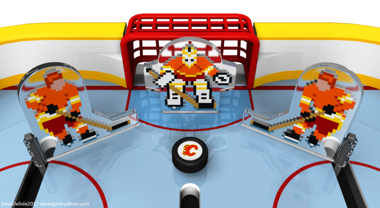 NHL 94 tabletop hockey design by Dave Delisle
