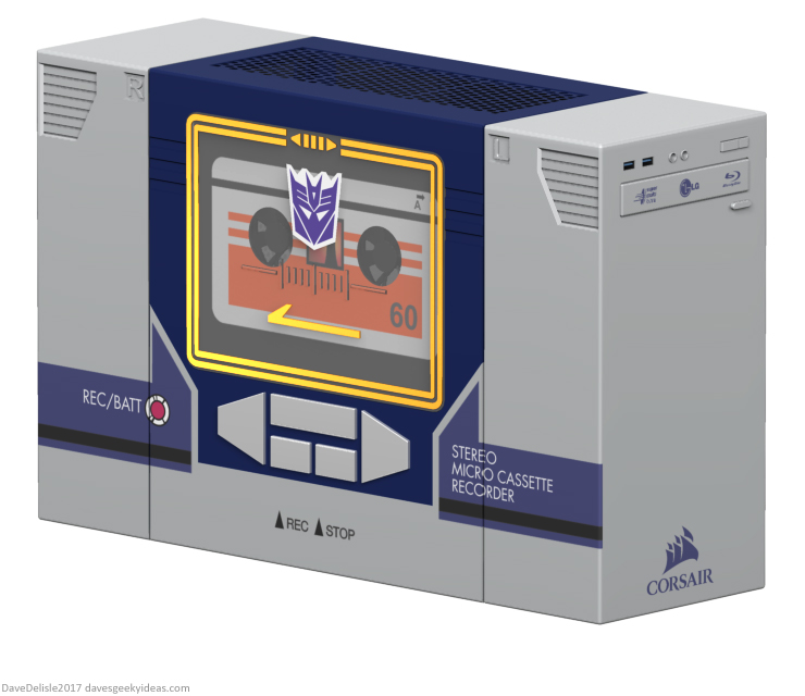 Soundwave PC case mod by Dave Delisle davesgeekyideas Dave's Geeky Ideas