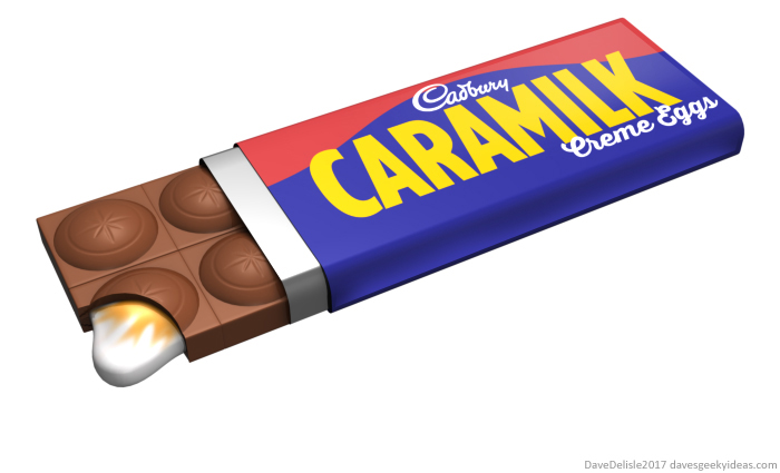 Cadbury Creme Egg Bar by Dave Delisle dave's geeky ideas