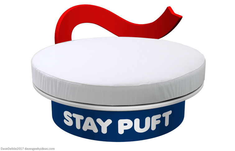 Stay Puft Round Bed design by Dave Delisle 2017