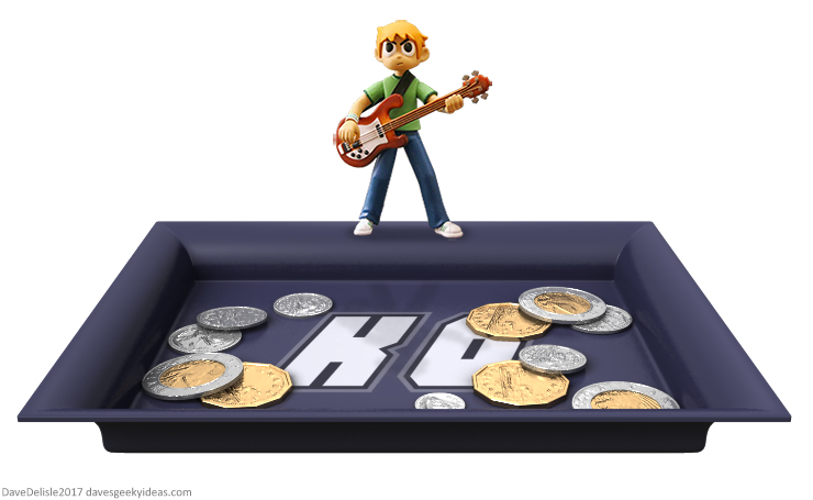 Scott Pilgrim coin dish by Dave's Geeky Ideas