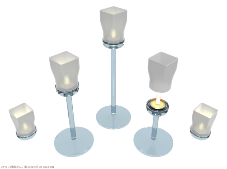 Flying Lantern Candle Holders by Dave Delisle