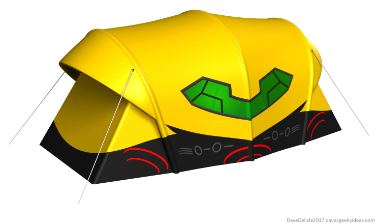 Metroid gunship camping tent nintendo design 2017 dave delisle davesgeekyideas dave's geeky ideas