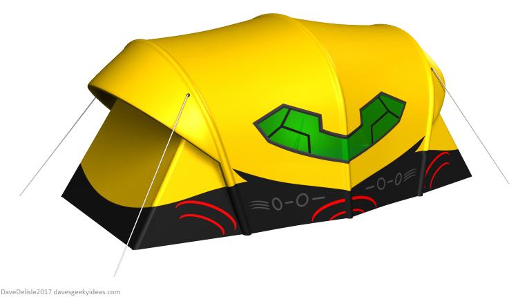 Metroid Gunship Tent design by Dave Delisle