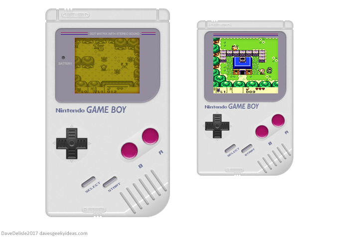 Game Boy Classic mockup by Dave Delisle