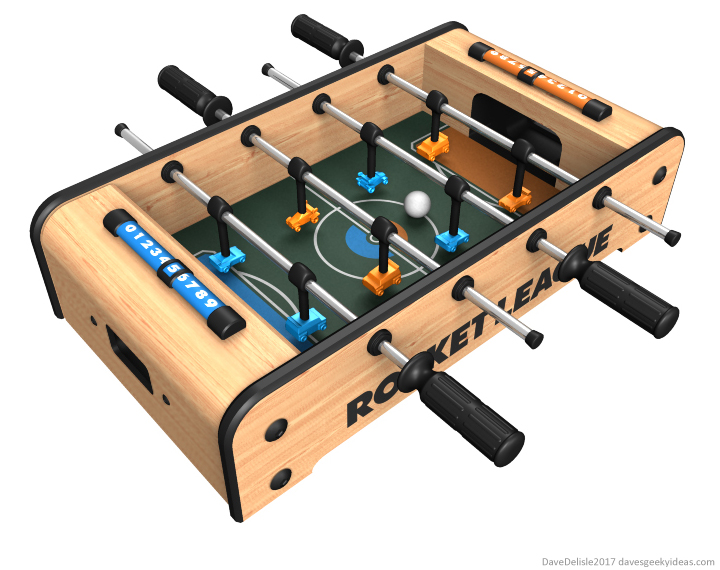 Rocket League Foosball table by Dave Delisle dave's geeky ideas davesgeekyideas