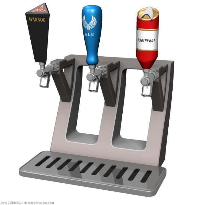 Star Trek beer tap dispenser by Dave Delisle