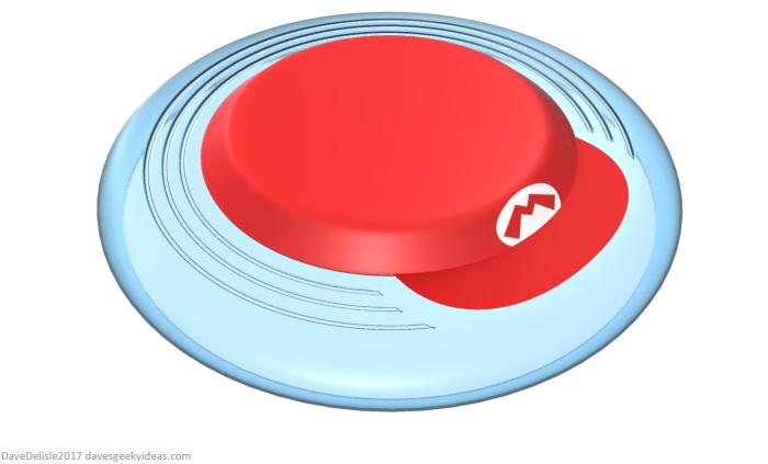 Super Mario Frisbee by Dave Delisle