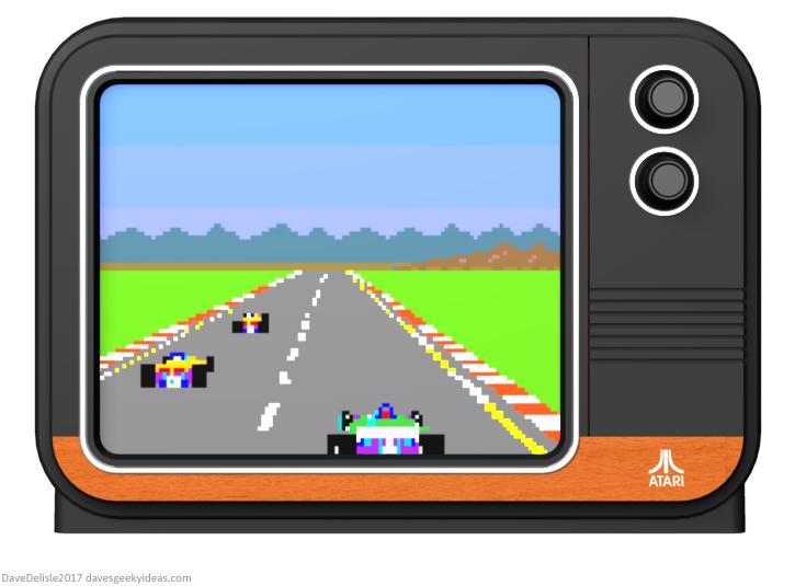 Atari TV design by Dave Delisle 2017 davesgeekyideas