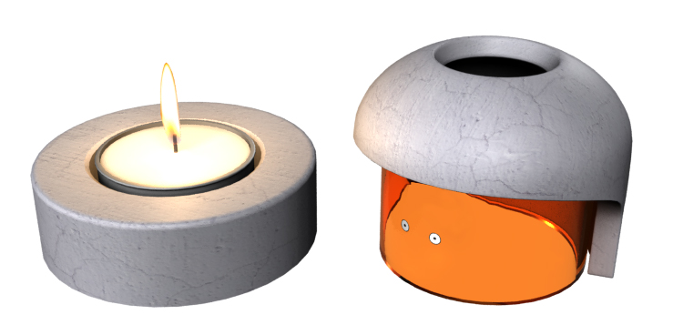 Calcifer Candle holder by Dave Delisle