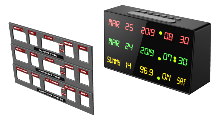 BTTF Time Circuits Alarm Clock design by Dave Delisle