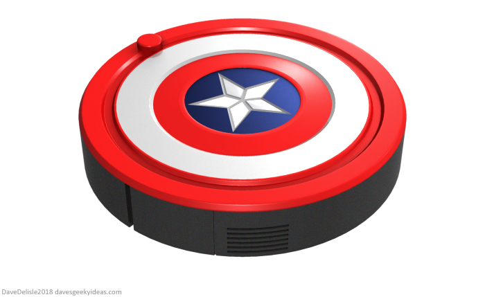 Captain America Roomba Design by Dave Delisle