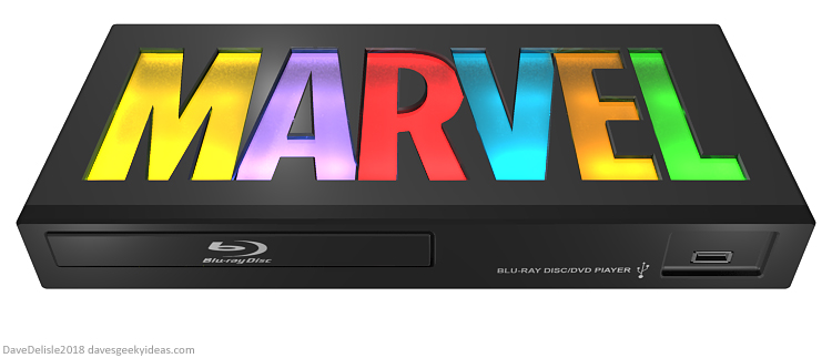 Marvel Studios Blu-Ray Player Design by Dave Delisle