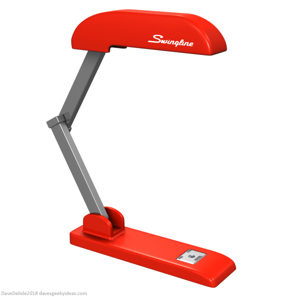 Office Space Red Stapler Swingline desk lamp design by Dave Delisle