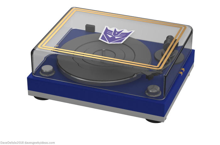 Transformers Soundwave Record Vinyl Player design by Dave Delisle davesgeekyideas