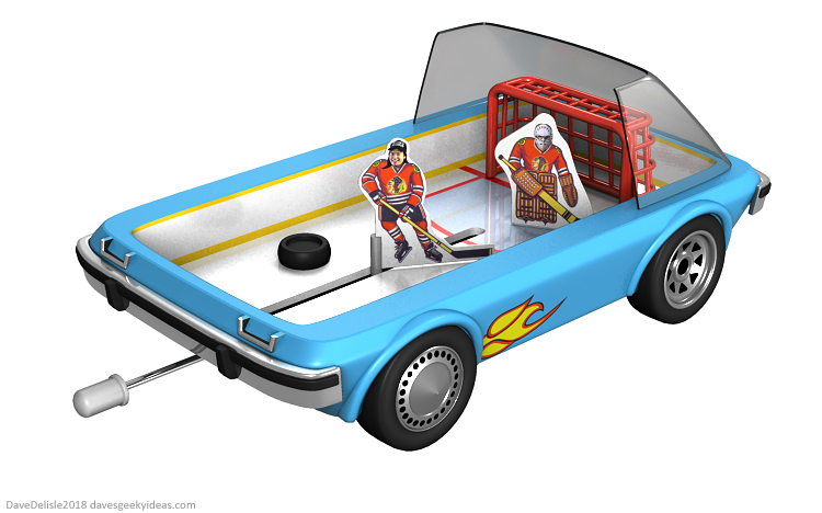 Wayne's World Tabletop Hockey Garthmobile Design by Dave Delisle