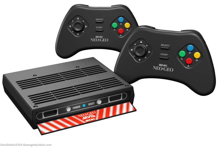 Neo Geo 40th Classic Mini Console design by Dave Delisle