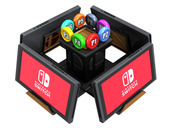 Nintendo Switch Smash Bros. Crate Stand design by Dave Delisle