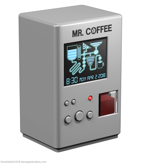 Spaceballs The Coffee Maker Machine design by Dave Delisle dave's geeky ideas davesgeekyideas