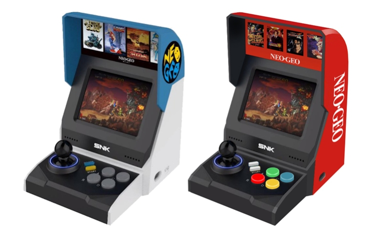 NEO GEO mini Red cabinet redesign by Dave Delisle