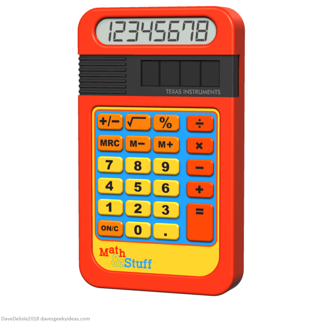 Speak & Spell Calculator Texas Instruments design by Dave Delisle davesgeekyideas
