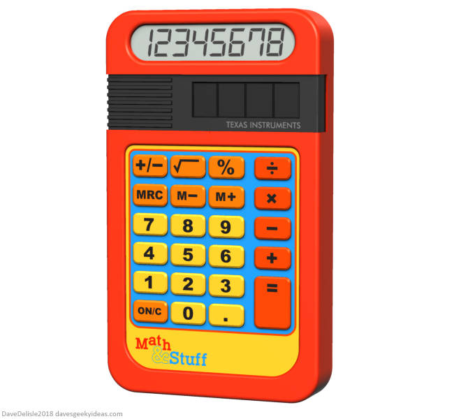 Speak & Spell Calculator Texas Instruments design by Dave Delisle davesgeekyideas