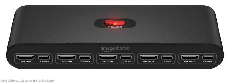 HDMI USB Switch for video game consoles 2018 Dave Delisle davesgeekyideas