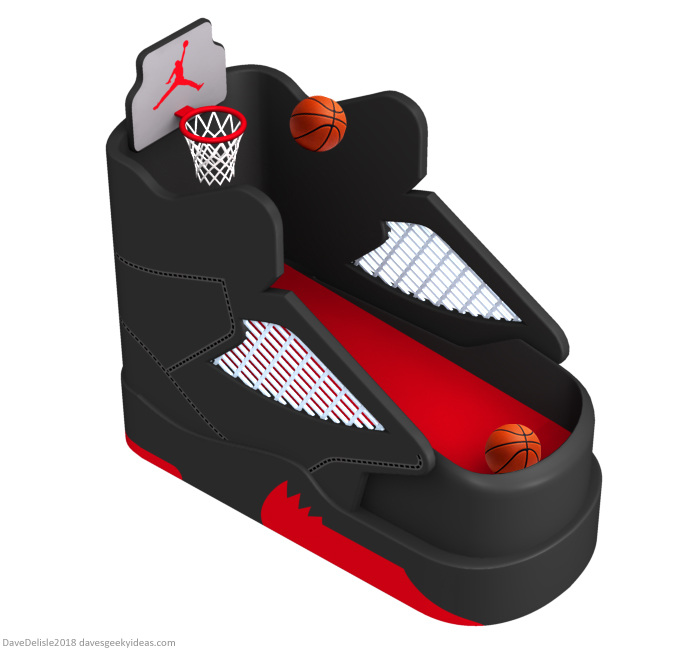 Sneaker Basketball Arcade Machine design by Dave Delisle davesgeekyideas