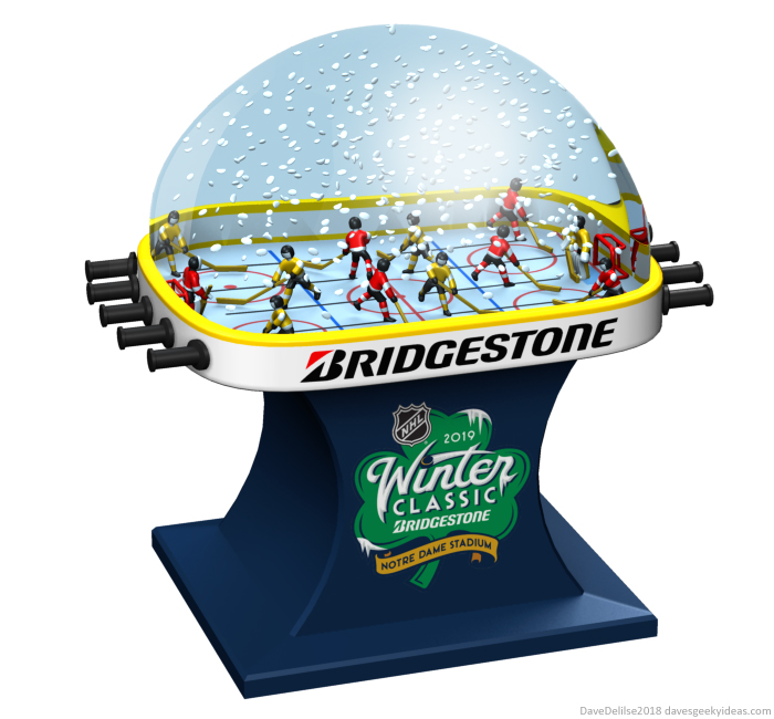 Bubble Hockey Snow Globe design by Dave Delisle davesgeekyideas