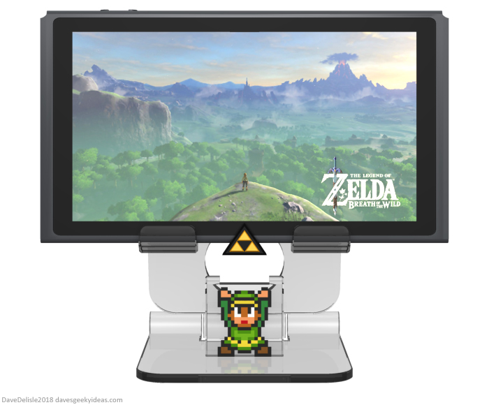 Zelda Nintendo Switch Stand design by Dave Delisle davesgeekyideas