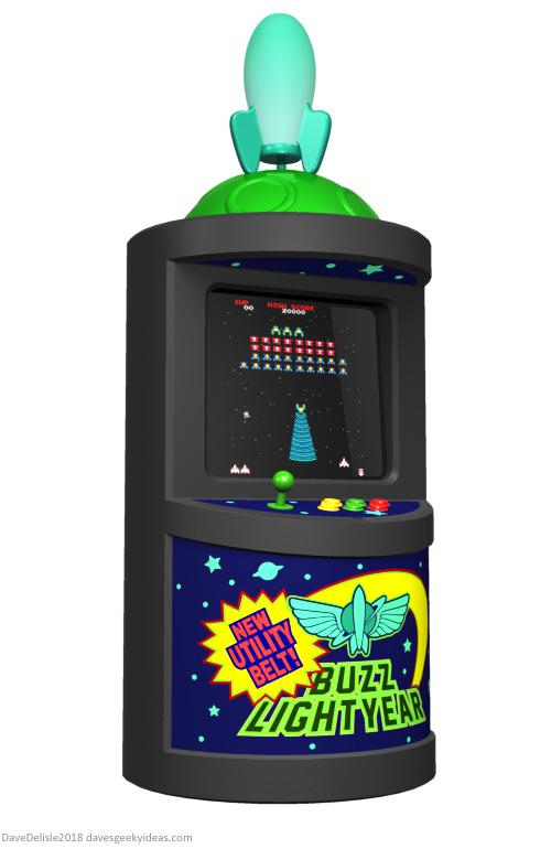 Buzz Lightyear Arcade Cabinet design by Dave Delisle davesgeekyideas