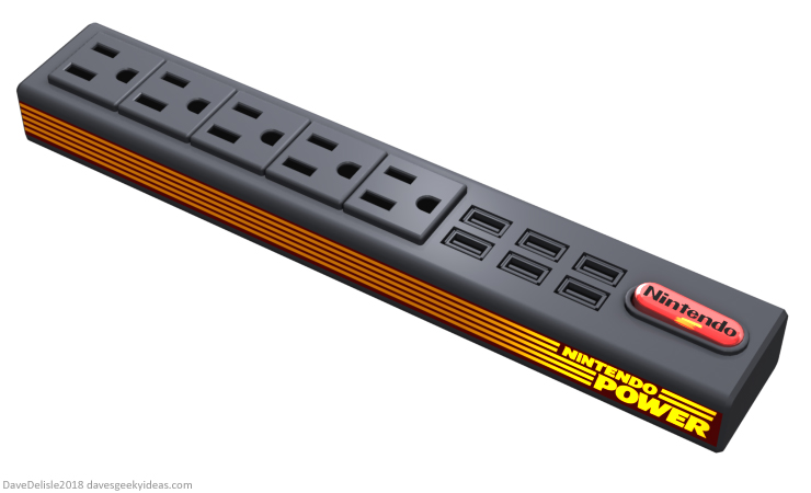 nintendo power strip USB design by Dave Delisle davesgeekyideas