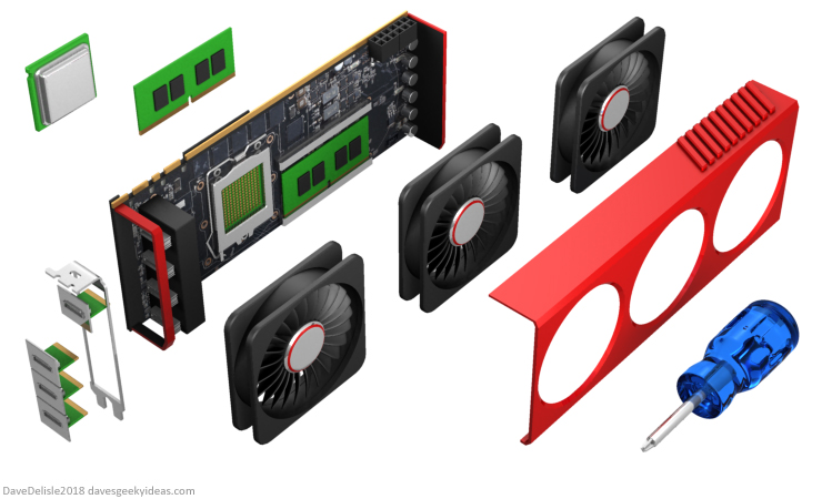 Modular Graphics Card design by Dave Delisle davesgeekyideas