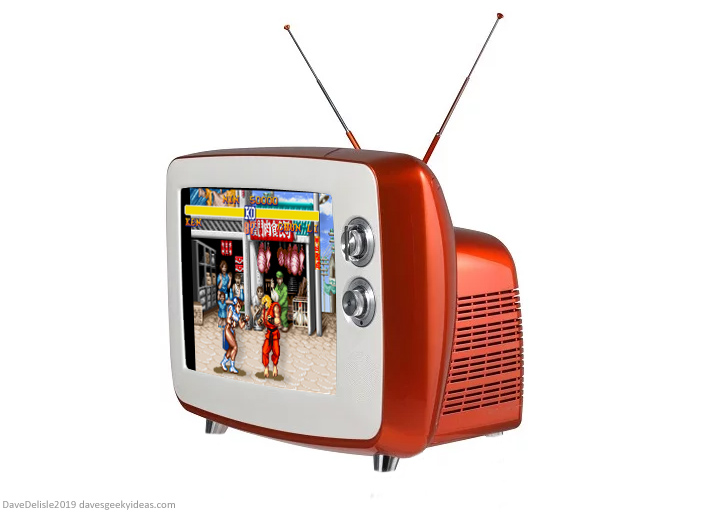 Retro Gaming 3D TV clear display LCD design by Dave Delisle davesgeekyideas