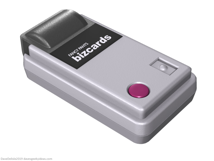 Game Boy Printer business card holder 2019 dave's geeky ideas Dave Delisle davesgeekyideas