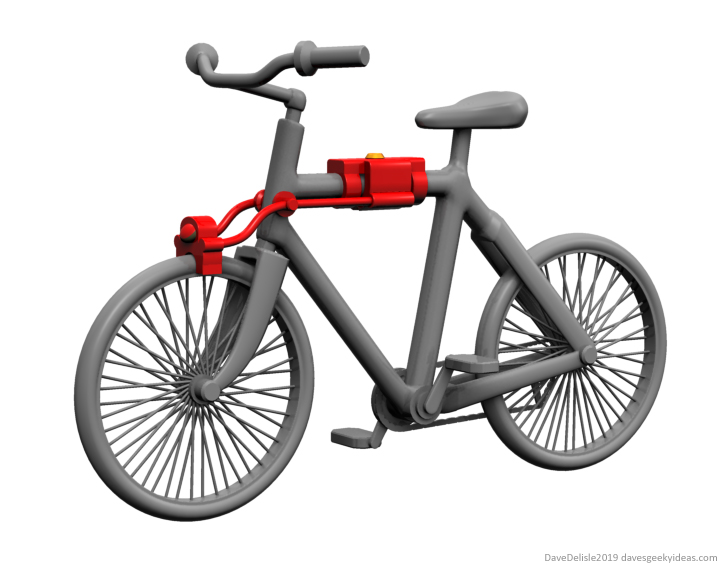 Anti-theft bicycle design lock 2019 dave delisle davesgeekyideas daves geeky ideas