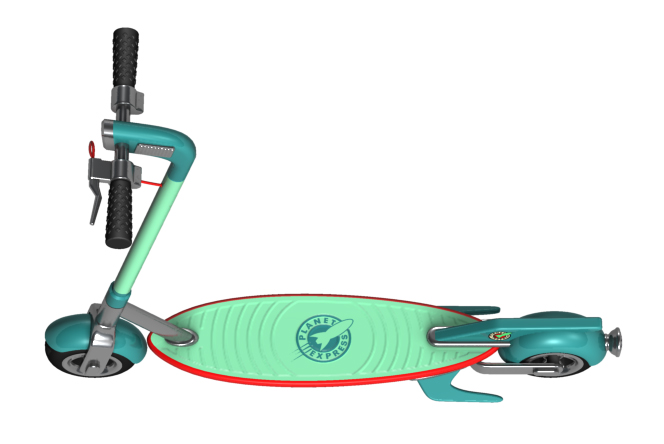 futurama-planet-express-electric-scooter-bird-xiaomi-menace-2019-dave-delisle-davesgeekyideas-daves-geeky-ideas