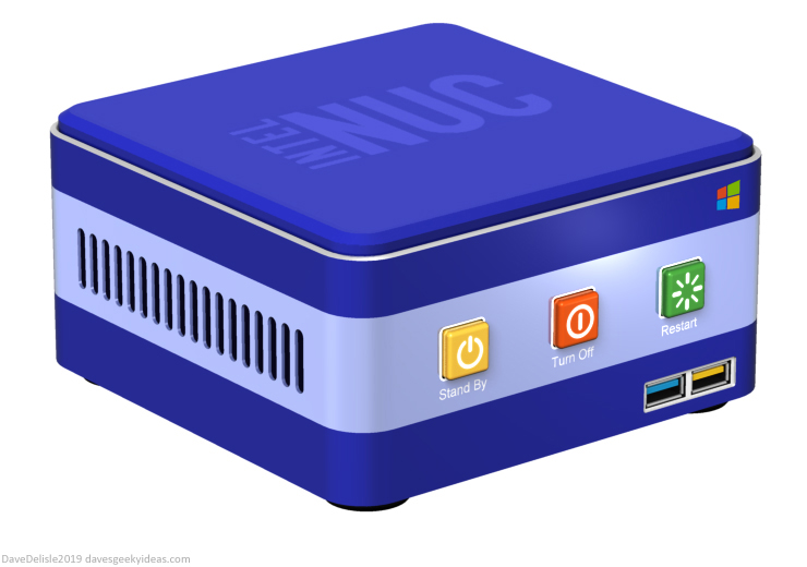 Windows XP NUC PC design 2019 Dave Delisle davesgeekyideas dave's geeky ideas