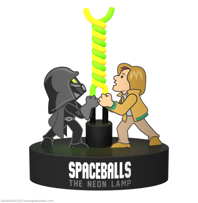 Spaceballs the neon lamp design by Dave Delisle dave's geeky ideas davesgeekyideas