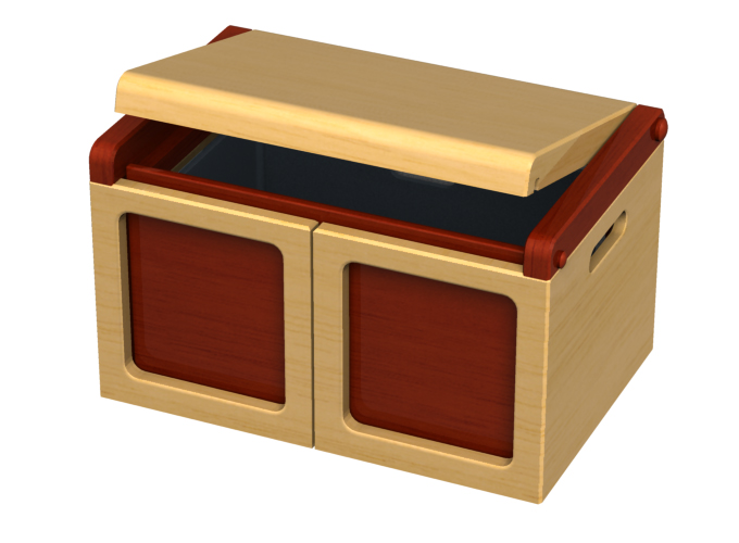 Toy Chest Transforms Into Playset Storage Dollhouse Trunk Chest 2019 dave delisle davesgeekyideas dave's geeky ideas