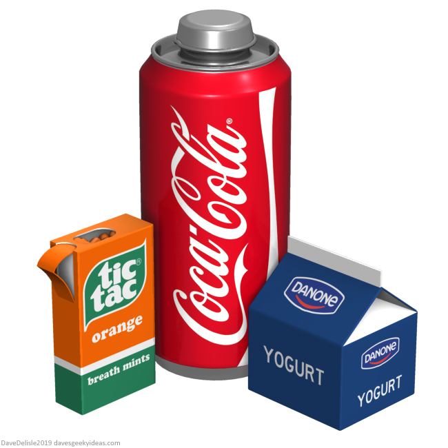 War on plastic Tic Tacs Coke Yogurt Pudding packaging 2019 dave delisle davesgeekyideas