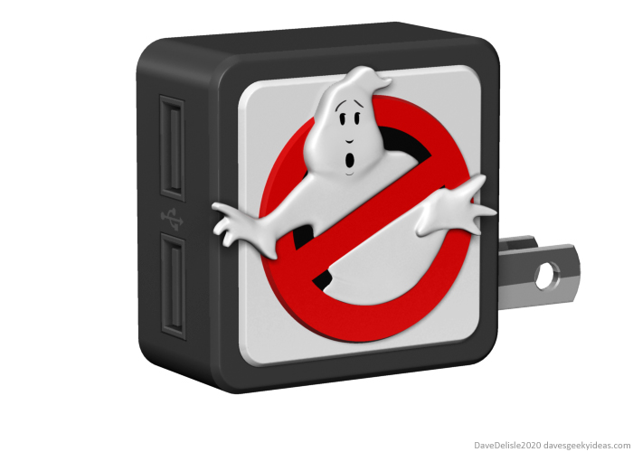 ghostbusters usb wall adapter nite lite sign 2020 dave delisle davesgeekyideas dave's geeky ideas