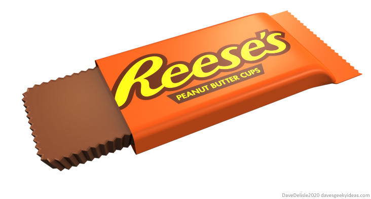 Reese's Peanut Butter Cups square redesign efficient packaging volume 2020 dave delisle davesgeekyideas