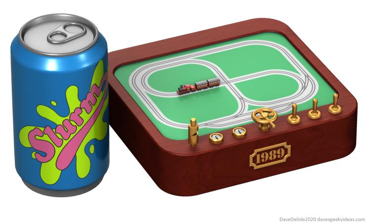 Tiny Toy Train Set design miniature