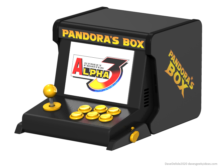 Powkiddy Pandora's Box portable arcade retro system 2020 Dave Delisle davesgeekyideas