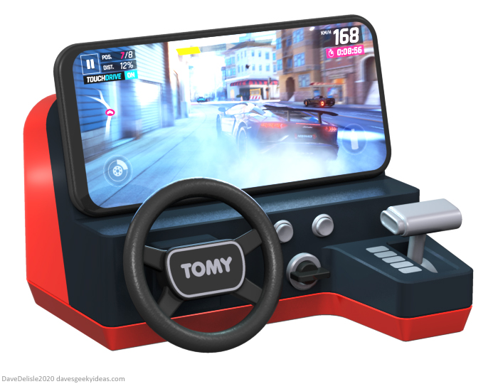 Tomy Turnin Turbo smartphone mod racing dock ipad iphone wireless charging design toy 2020 dave delisle